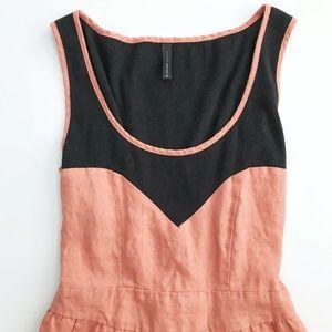 7238a4f6 NAF NAF Dresses | Pink Linen Sweetheart Dress Small 36 | Poshmark